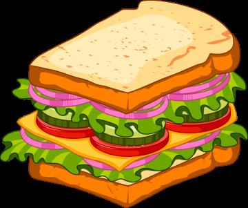 Autocollant Fast Food Sandwich 5