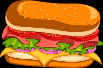 Autocollant Fast Food Sandwich 6