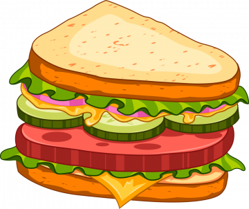 Autocollant Fast Food Sandwich 7