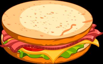 Autocollant Fast Food Hamburger 4