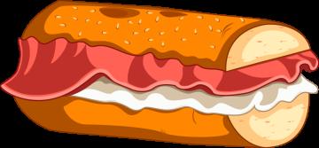 Autocollant Fast Food Sandwich 8