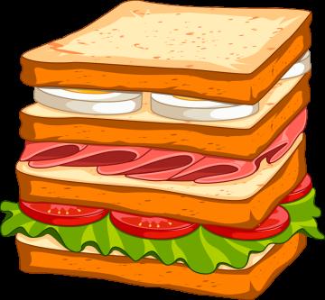 Autocollant Fast Food Sandwich 9