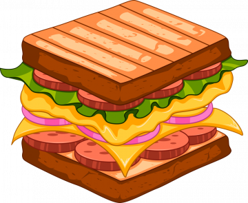 Autocollant Fast Food Sandwich 10