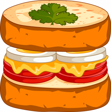 Autocollant Fast Food Sandwich 11