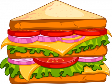 Autocollant Fast Food Sandwich 12