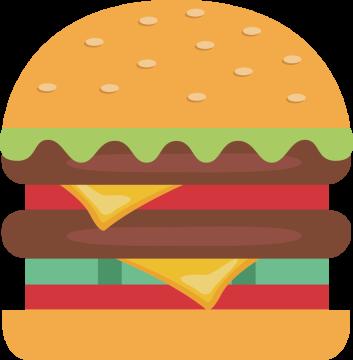 Autocollant Fast Food Hamburger 5