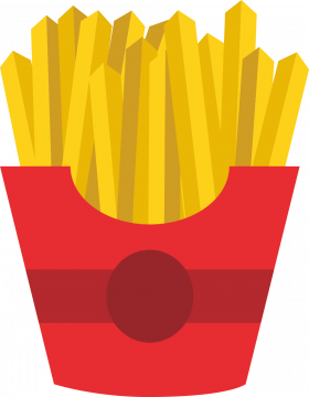 Autocollant Fast Food Sachet Frites