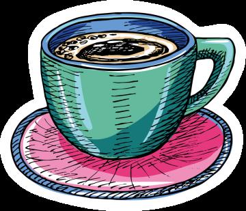 Autocollant Boisson Café Thé