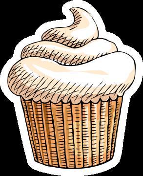 Autocollant Pâtisserie Cupcake 2