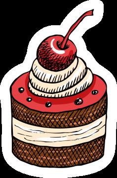 Autocollant Pâtisserie Cupcake 3