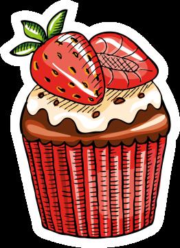 Autocollant Pâtisserie Cupcake 4