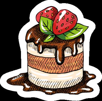 Autocollant Pâtisserie Cupcake 5