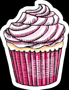 Autocollant Pâtisserie Cupcake 6