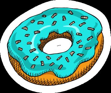 Autocollant Pâtisserie Donuts 2