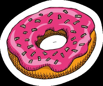 Autocollant Pâtisserie Donuts 3