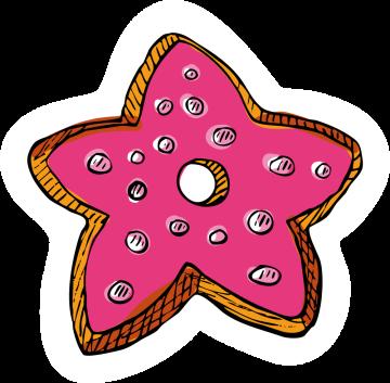 Autocollant Pâtisserie Donuts 4