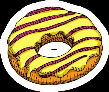 Autocollant Pâtisserie Donuts 7