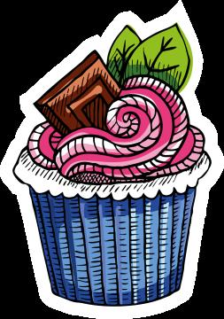 Autocollant Pâtisserie Cupcake 8