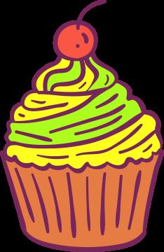 Autocollant Pâtisserie Cupcake 9