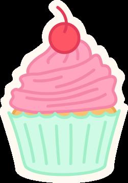 Autocollant Pâtisserie Cupcake 12