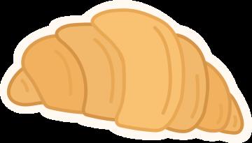 Autocollant Boulangerie Croissant 2 1