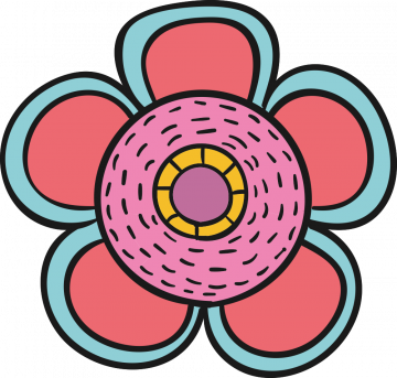 Autocollant Fleurs Simple 2