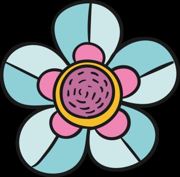 Autocollant Fleurs Simple 3