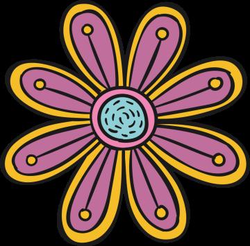 Autocollant Fleurs Simple 4