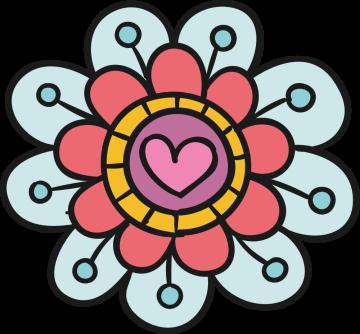 Autocollant Fleurs Simple 5