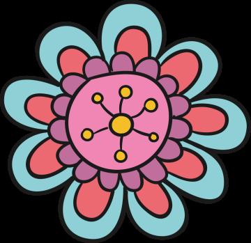 Autocollant Fleurs Simple 6
