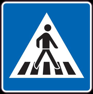 Autocollant Indication Passage Pour Pietons Droit