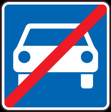 Autocollant Indication Fin De Zone Pour Automobiles