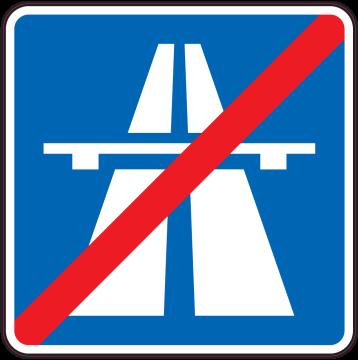Autocollant Indication Fin D'autoroute