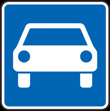 Autocollant Indication Route à Accès Réglementé