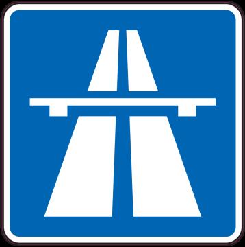 Autocollant Indication Autoroute