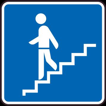 Autocollant Indication Descendre Escaliers