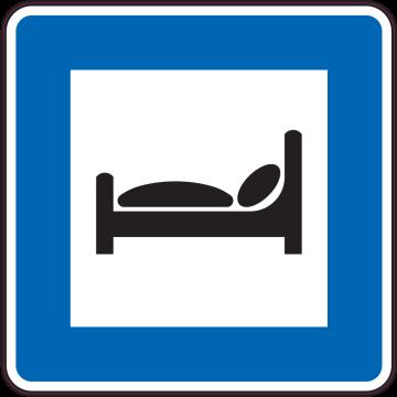 Autocollant Indication Hébergement