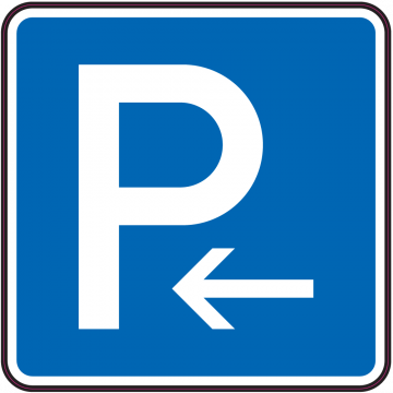 Autocollant Indication Parking à Gauche