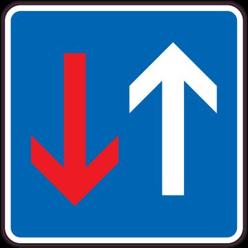 Autocollant Indication Priorité Circulation