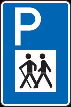 Autocollant Indication  Parking Pour Randonnée