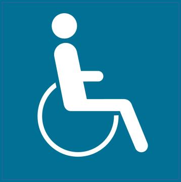Autocollant Indication Autorisation Handicapés