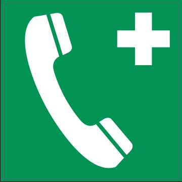 Autocollant Indication Téléphone 2