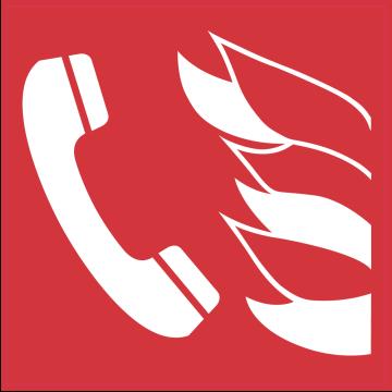 Autocollant Indication Incendie Téléphone