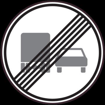 Autocollant Indication Fin D'interdiction Dépasser Pr Camions