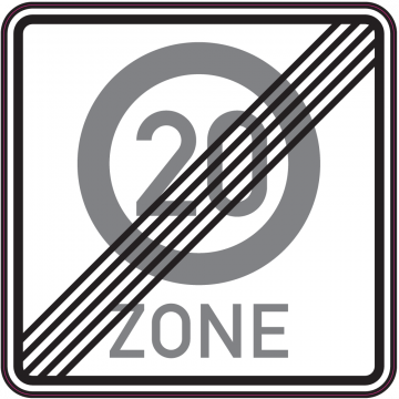 Autocollant Indication Fin De Zone 20