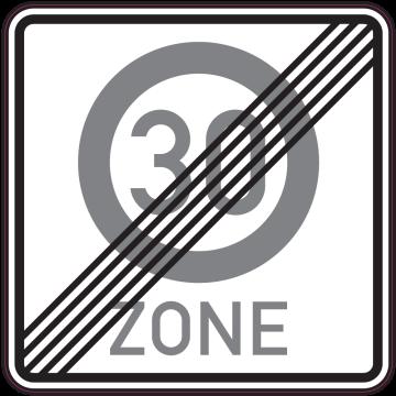 Autocollant Indication Fin De Zone 30