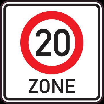 Autocollant Indication Zone 20