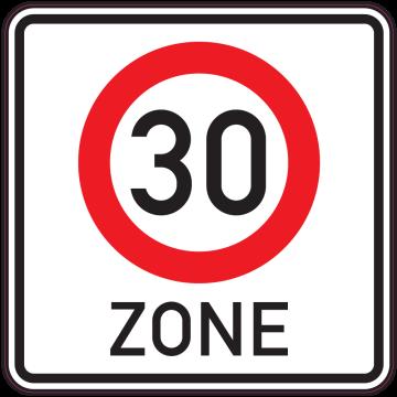Autocollant Panneau Indication Zone 30