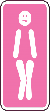 Autocollant Panneau Wc Femme