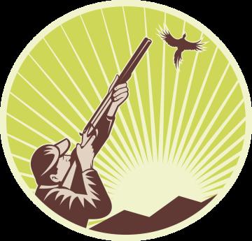 Autocollant Chasse Oiseau